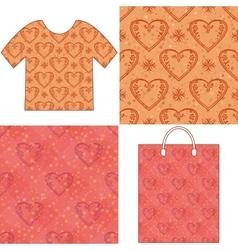 Valentine seamless patterns vector