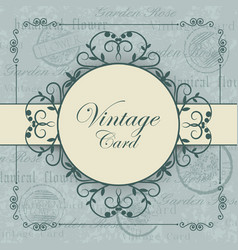 Vintage card with place for your text vector