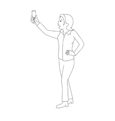 Woman raising champagne glass vector