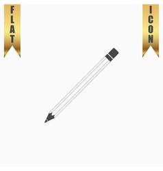 Pencil flat icon vector