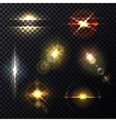 Light effect through lens sunlight bleak vector
