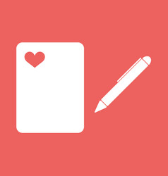 a ball point pen drawing or writing vector image
