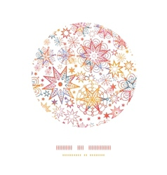 Textured Christmas Stars Circle Decor Pattern vector image