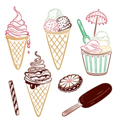 Ice cream design elements vector