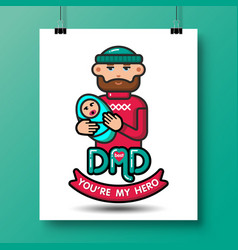 Fathers day icons 29 vector