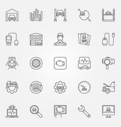 Car diagnostics icons set vector