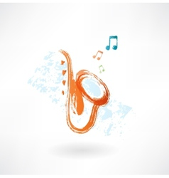 Sax grunge icon vector