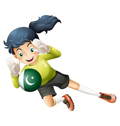 A soccer player from pakistan vector