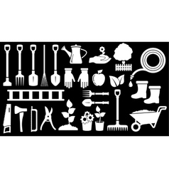 tools for gardening work vector image