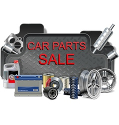 Car Parts Frame vector image