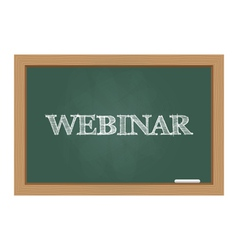 Webinar text on chalkboard vector