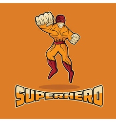 Superhero in action design template vector