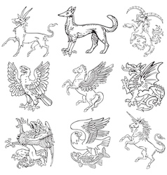 heraldic monsters vol iv vector image