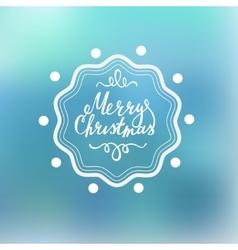 Merry christmas lettering on a blured background vector