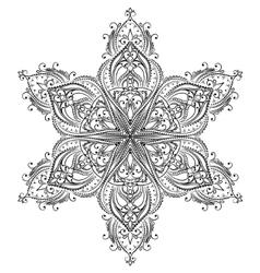Coloring mandala vector image