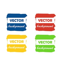 Colorful paint stains for your text set isolated vector image