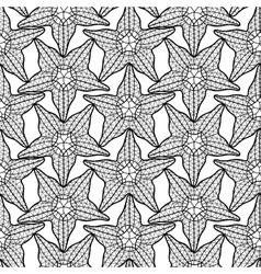 Graphic starfish seamless pattern vector image