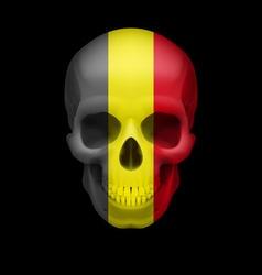 Belgian flag skull vector