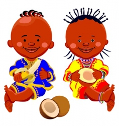 African kids vector image vector image