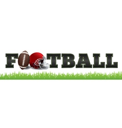 American Football Word Art vector image vector image