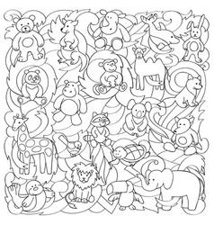 Animal toys pattern vector