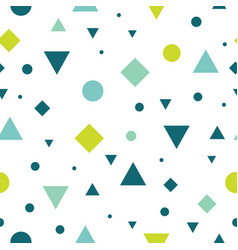 Blue and green vintage geometric shapes vector
