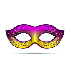 Carnival mask for masquerade costume vector