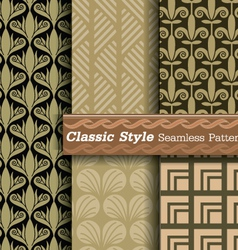 classic style seamless pattern vector image