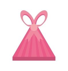 Colored gift box triangle shape ribbon stripes vector