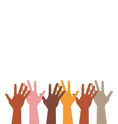different hands silhouette vector image vector image