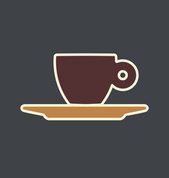 Espresso cup vector