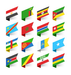 Flags of the world africa set 1 vector