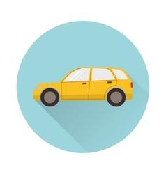 Flat car icon vector image