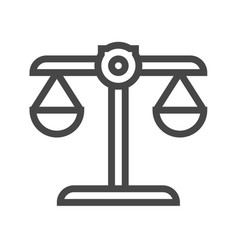 libra thin line icon vector image