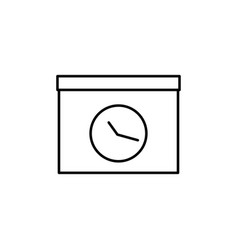 meating deadline icon vector image