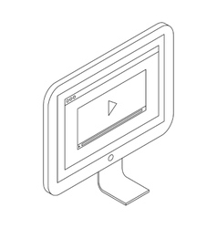Media player icon isometric 3d style vector image vector image