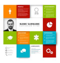 Mosaic cv resume template vector