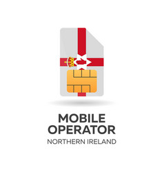 Northern ireland mobile operator sim card with vector