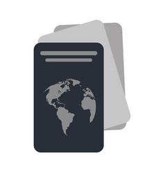 passport with planet on cover icon image vector image