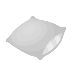 Pillow icon in monochrome style isolated on white vector