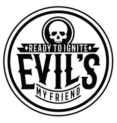 Quotes evil typography vector