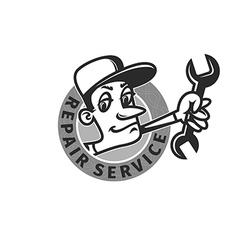 Repair shop emblem vector