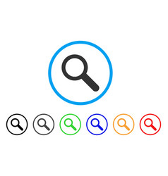 search tool rounded icon vector image vector image