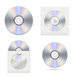 Set of the cd disks vector