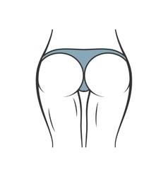 Sexy panties icon women ass in thong vector image