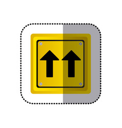 Sticker yellow square shape frame same direction vector
