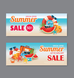 Summer sale voucher background template discount vector