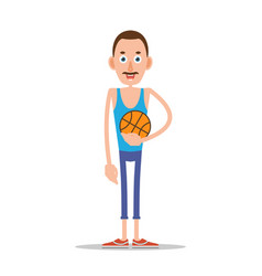 teacher or coach with basketball vector image vector image