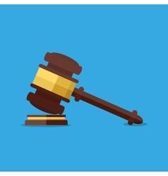Wooden judges gavel vector image