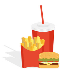 potatoes fries in a red carton box vector image